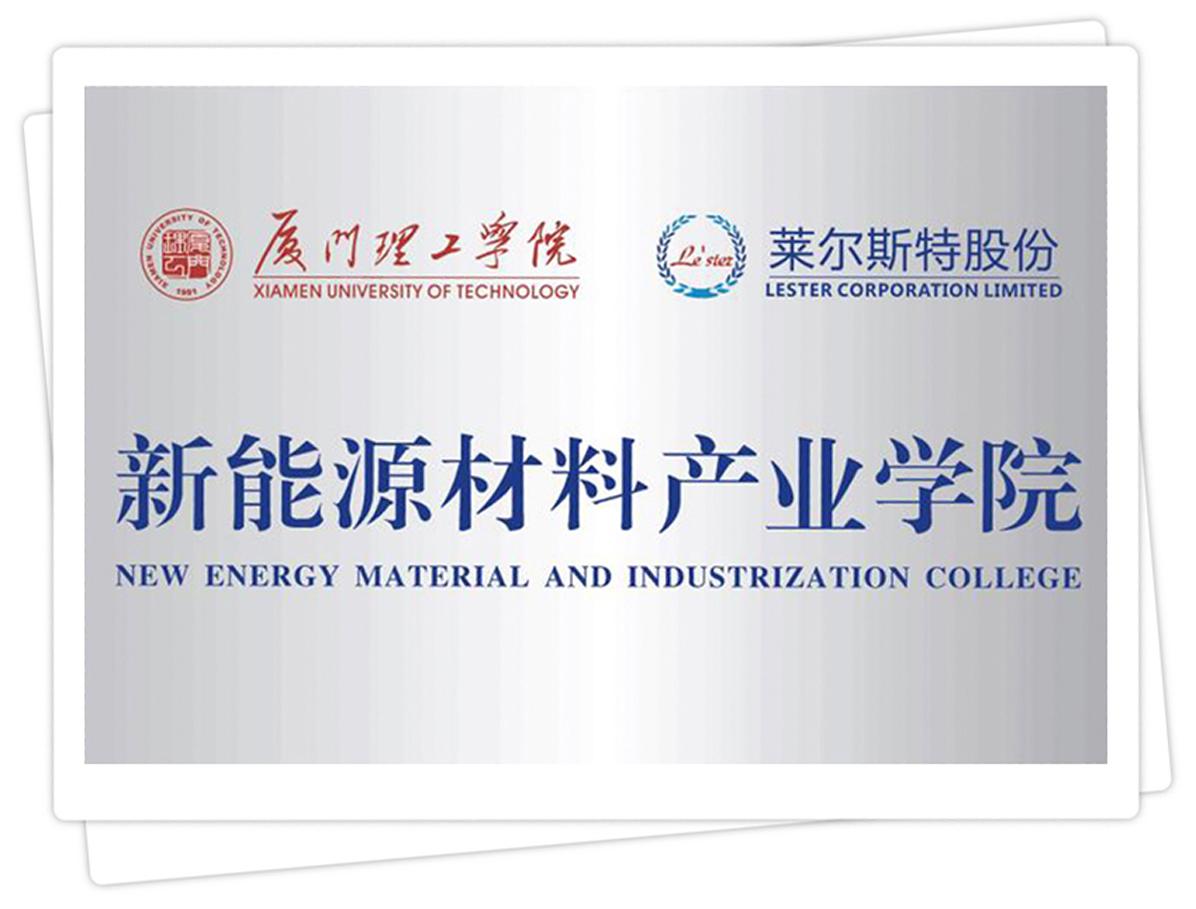 莱尔斯特联合创办新能源材料产业学院_图
